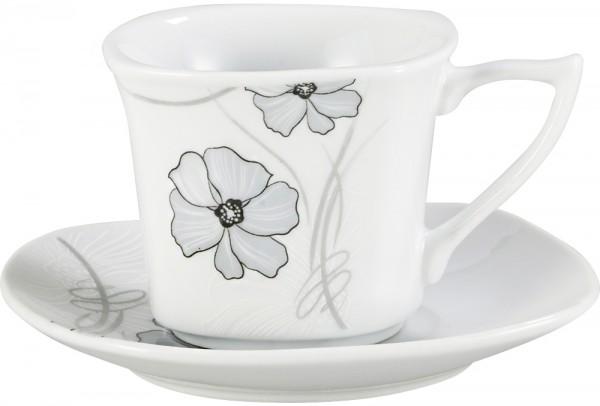 Bavary 6'lı Kahve Fincan Seti Porselen 12 Parça | A13411