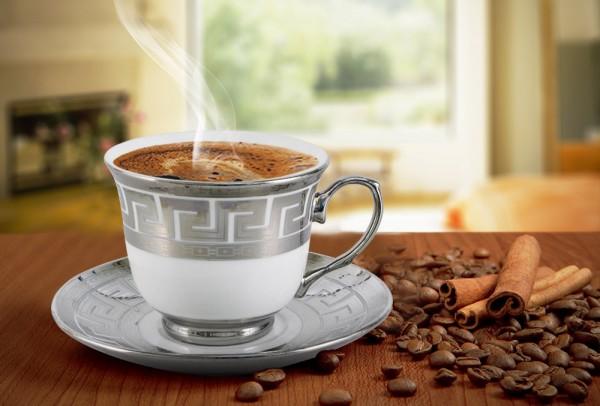 Bavary 6'lı Büyük Boy Espresso Kahve Seti 12 Parça Gümüş İşlemeli