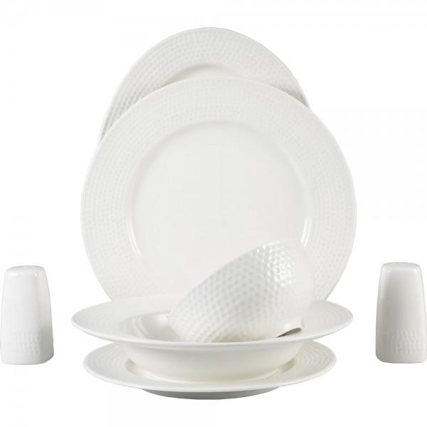 Bavary 28 Parça Klasik Porselen Yemek Takımı | Beyaz | 6 Kişilik