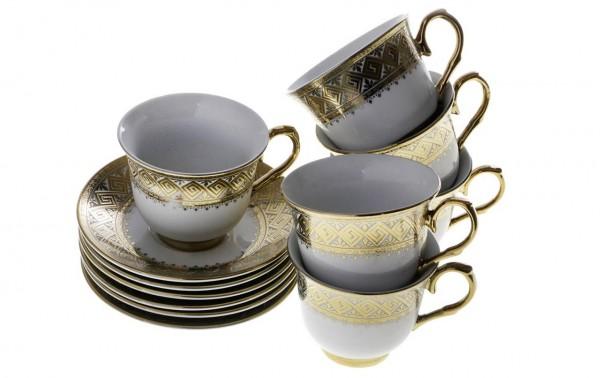 Bavary 6'lı Kahve Fincan Seti 12 Parça | Kutu Hediyeli | BB-0107