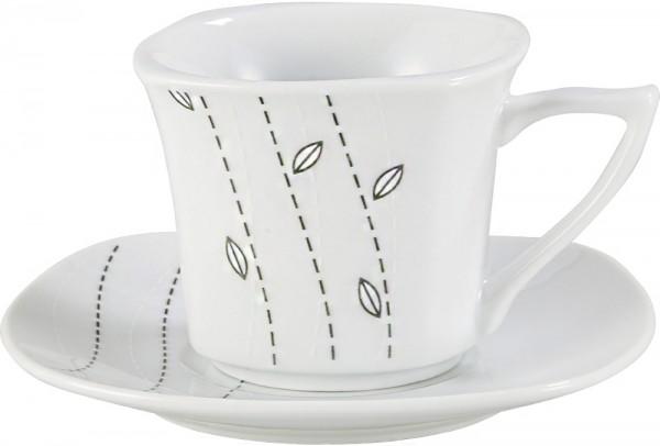 Bavary 6'lı Türk Kahve Fincan Seti Porselen 12 Parça | A13403