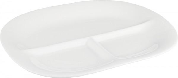Bavary Porselen Servis Tabağı 3 Bölmeli | Beyaz | 1 Adet