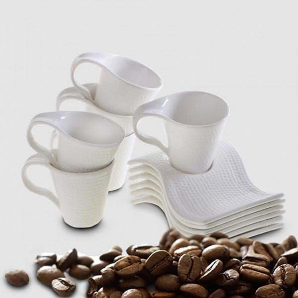 Bavary 6'lı Kahve Fincan Seti Porselen 12 Parça | Hyc231l