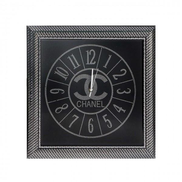 Bavary Dekoratif Duvar Saati Chanel Siyah