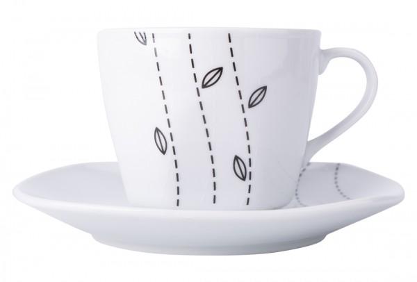 Bavary 6'lı Büyük Kahve Fincan Seti Porselen 12 Parça | A13403-xl