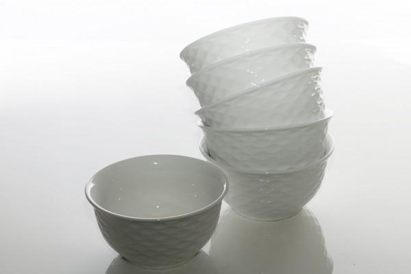 Bavary 6 Parça Porselen Çorba Kasesi Ivka | Beyaz | 6 Kişilik