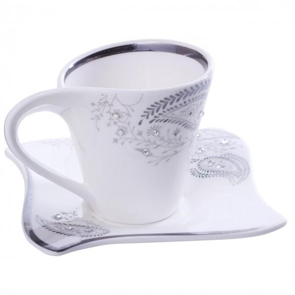 Bavary 6'lı Kahve Fincan Seti Porselen 12 Parça | Hyc301lbs