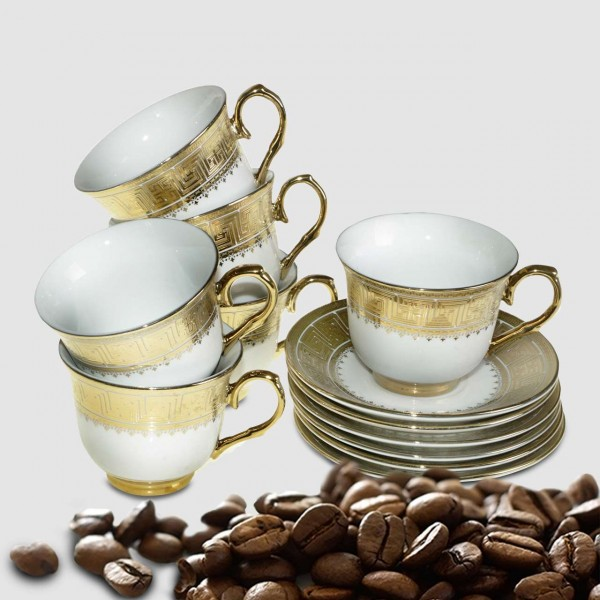 Bavary 6'lı Kahve Fincan Seti 12 Parça | Kutu Hediyeli | BB-0108
