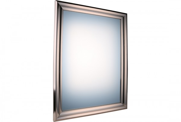 Bavary Dekoratif Lüx Ayna 49x68 cm | Gümüş | By-k4801-s