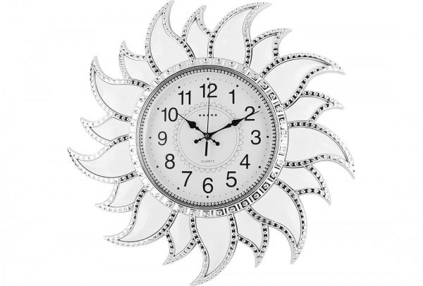 Bavary Duvar Saati 54x54cm | Güneş | Beyaz | by-ne-878-white