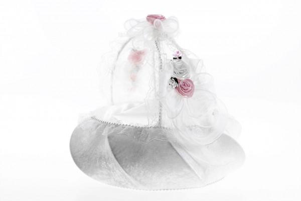Bayimpex düğün çiçek sepeti Klara Beyaz 2 adet
