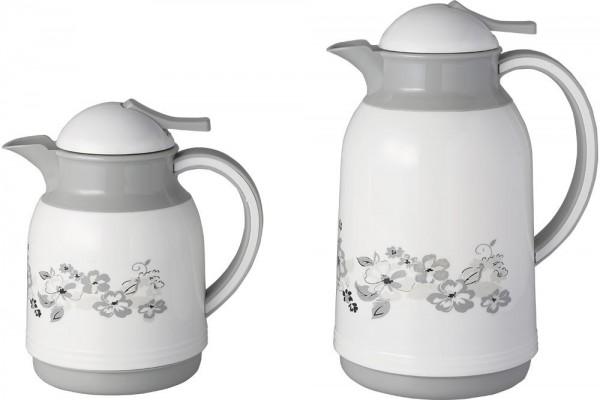 Bavary | Thermosflaschen Set | mit Motiven | Weiß | Grau | 0,5 L + 1 L