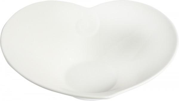 Bavary Porzellan Service Teller Herzform 20x18cm | Weiß | 1 Stück