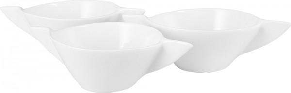 Bavary 3'lü Fine Porselen Kase Seti | Beyaz