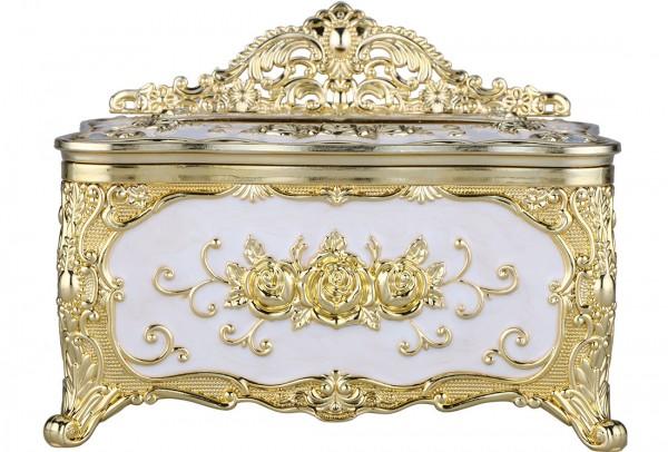 Bavary | Serviettenhalter | Serviettenspender | Weiß & Gold | Aus Mikanit | By-box-gold