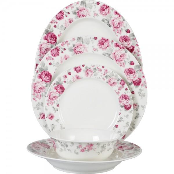 Bavary 26 Parça Porselen Yemek Takımı Çiçek Desen | 6 Kişilik