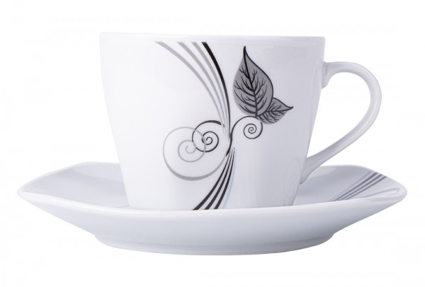 Bavary 6'lı Türk Kahve Fincan Seti Porselen 12 Parça | A12650