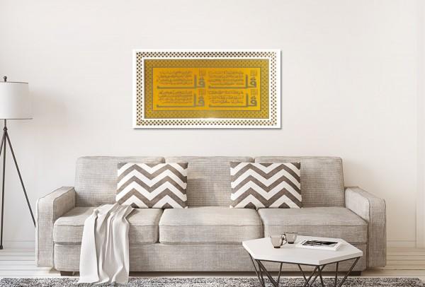 Bayimpex religiöses Wandbild Islam 4 Quls | Gold | 37x67-Gold