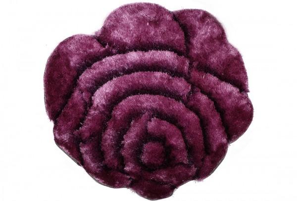 Bavary | Fußmatte | %100 Polyester | Lila | blumenförmig | by-rose-lila