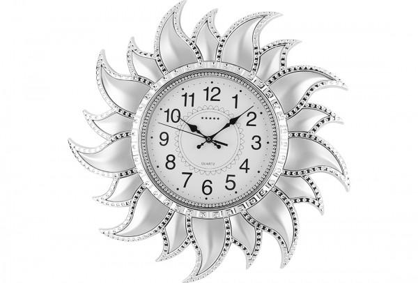 Bavary | Wanduhr | Dekoration | Sonne-Design | Ø 54cm | Rund | Silber| By-ne-878-silver