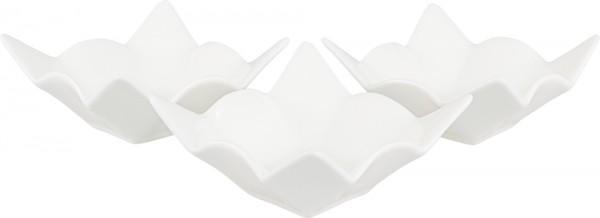 Bavary 3'lü Fine Porselen Mini Servis Kasesi | Beyaz