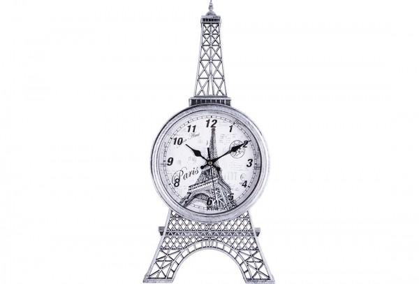 Bavary Paris Eyfel Kulesi Duvar Saati | Gümüş Siyah | By-neh3033-1