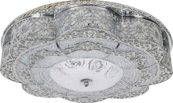 Bayimpex 48cm Güneş Desenli Led Plafonyer Avize | Gümüş | 2015-4411-48-c