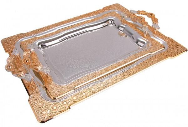 Bavary | 2er Elegance Serviertablett | Hochwertig | Gold | By-2208l-mh53g