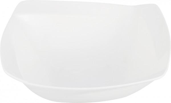 Bavary XL Servierteller Schale Fine Porzellan | Quadrat | 23cm | 750ml | Weiß