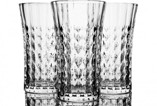 Bavary | Wasserglas | Hohe Qualität | Wasserbecher | 12 Teilig | Glas | Transparent | Bye-7006-XL
