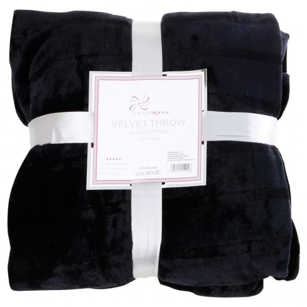 Bavary Yün Battaniye 130x170cm Siyah Tek Kişilik