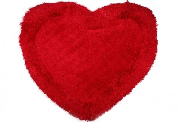 Bavary | Fußmatte | %100 Polyester | Rot | herzförmig | by-Heart-Red