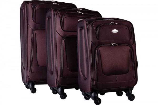Bavary | 3er Koffer-Set | mit Räder | Zahlenschloss | Braun | G1960-COFFEE