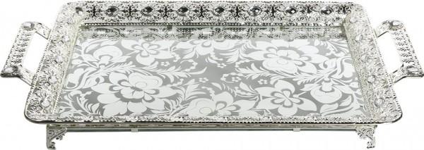 Bavary Elegance Tepsi | Yüksek Kalite | 53x30cm | Gümüş