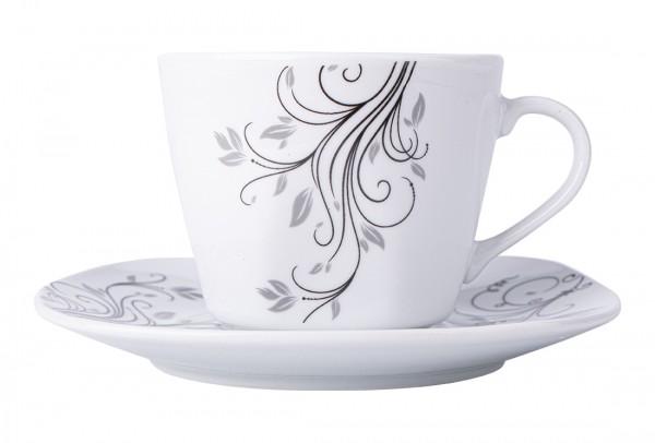 Bavary 6'lı Türk Kahve Fincan Seti Porselen 12 Parça | A13416
