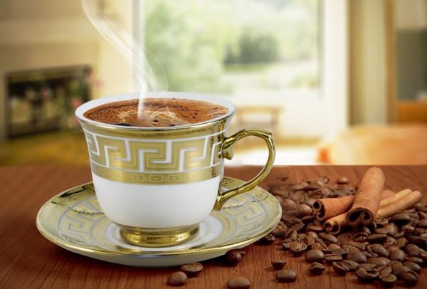 Bavary 6'lı Büyük Boy Kahve Seti 12 Parça Altın 9x7.5cm İşlemeli