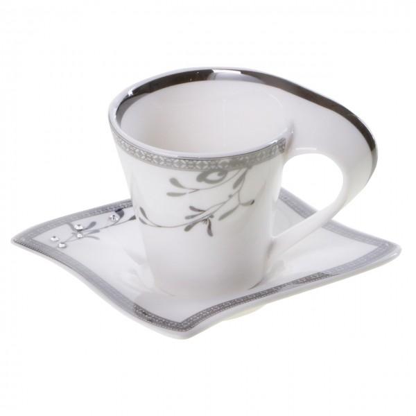 Bavary 6'lı Kahve Fincan Seti Porselen 12 Parça | Hyc301scs
