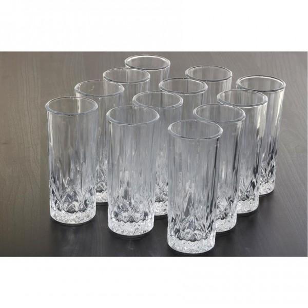 Hiqh Quality Saftglas Set Trinkglas Trink Gläser Wassergläser 12Tlg 24Tlg Kariert Transparent