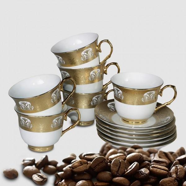 Bavary 6'lı Kahve Fincan Seti 12 Parça | Kutu Hediyeli | BB-0106