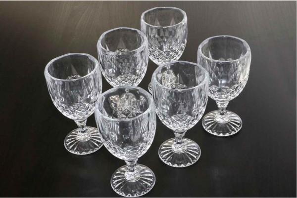Bavary Diamond 6|12 Parça Su Bardağı Kadeh Seti | 270ml