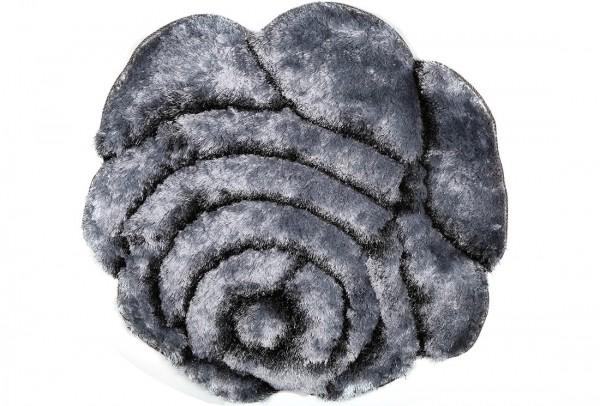 Bavary | Fußmatte | %100 Polyester | Grau | blumenförmig | by-rose-grey