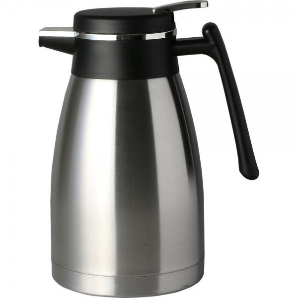 Bavary | 1.2 Liter | mittelgroße Thermoskanne mit modernem Design | Silber | Trm-0011